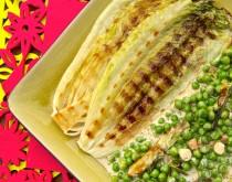 blog kulinarny zielony groszek sałata rzymska